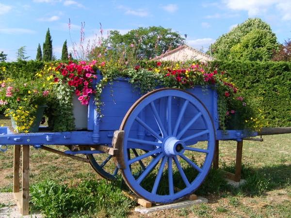 Lali charrette fleurie - Charrette dessin ...