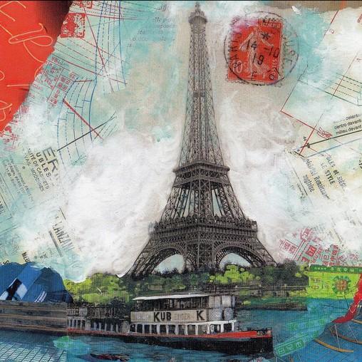 Juliette Vazquez - Tour Eiffel sur Seine