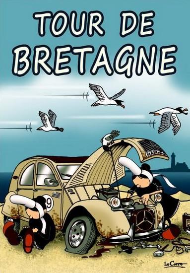 Tour de Bretagne - illustration de LeCore - série Mam-Goz