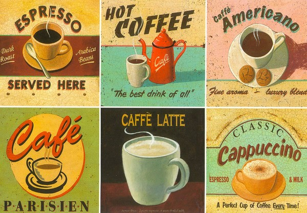 Café - illustration de Martin Wiscombe (Retro Days)