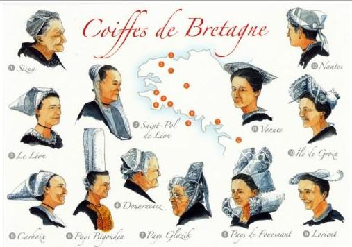Coiffes de Bretagne - illustration de Jean-Pierre Arcile