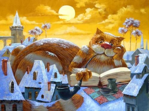 Le chat lecteur - Anton Gorcevich