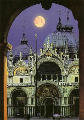 Golden Moon over Venice