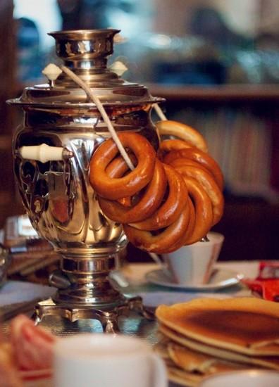 Thé et bagels