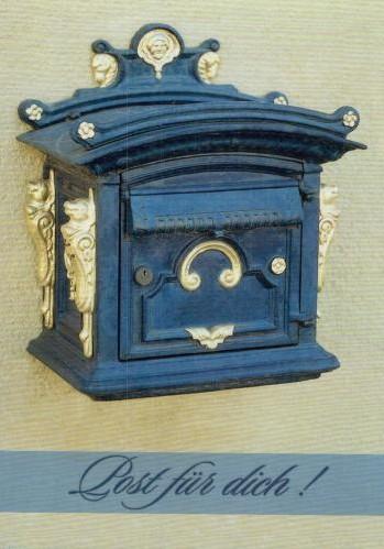 Ancienne boîte à lettres allemande