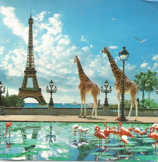 Giraffe Eiffel Bridge
