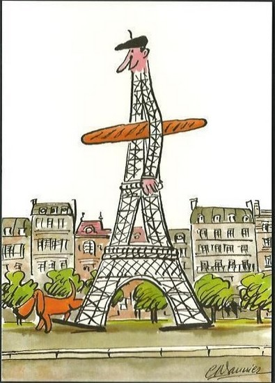 Bonjour Paris - illustration de Claude-Henri Saunier