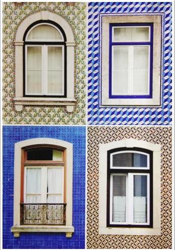 Fenêtres typiques portugaises