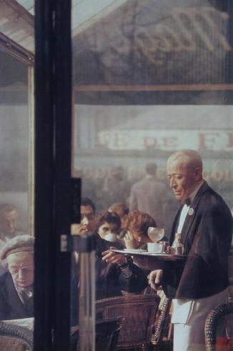 Garçon de café - photo de Saul Leiter