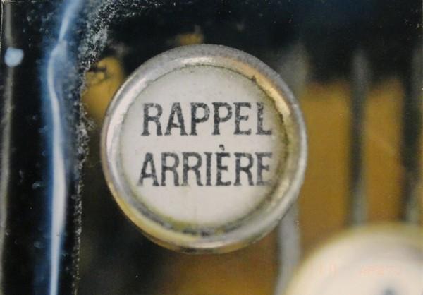 Rappel arrière (machine à écrire)