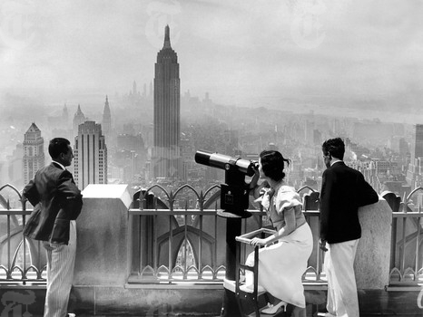 View of Empire State Building from RCA Building (1958) - photo de Robert Walker