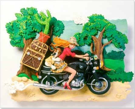 À plus de 100 - pâte à modeler - sculpture de Christèle Mekdjian