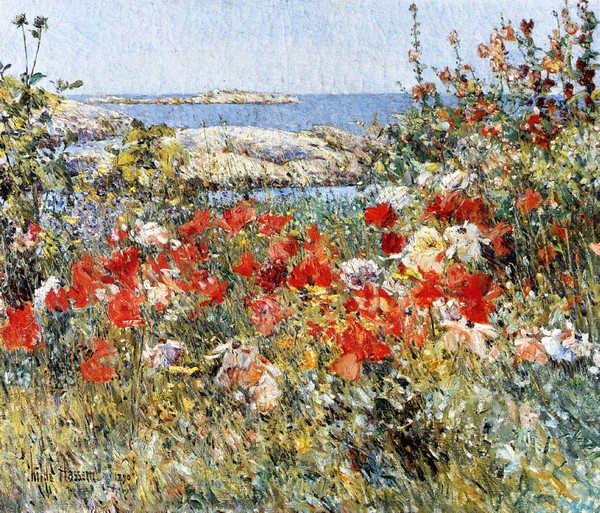 Celia Thaxter Garden, Isles of Shoals, Maine - toile de Childe Hassam