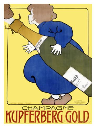 Champagne Kupferberg Gold - illustration de Frabz Kaskoff (1922)