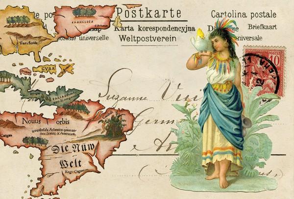 Collage avec carte ancienne
