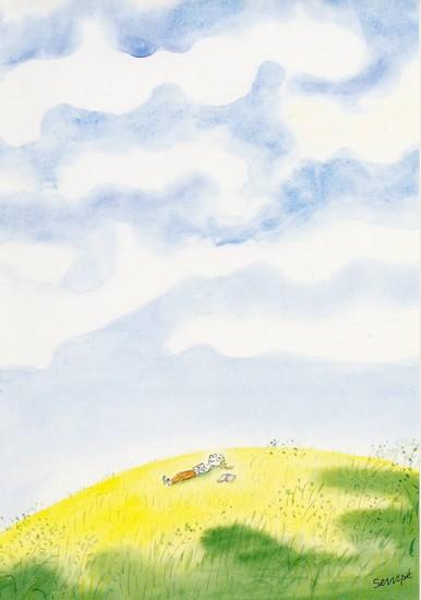 La tête dans les nuages - illustration de Sempé