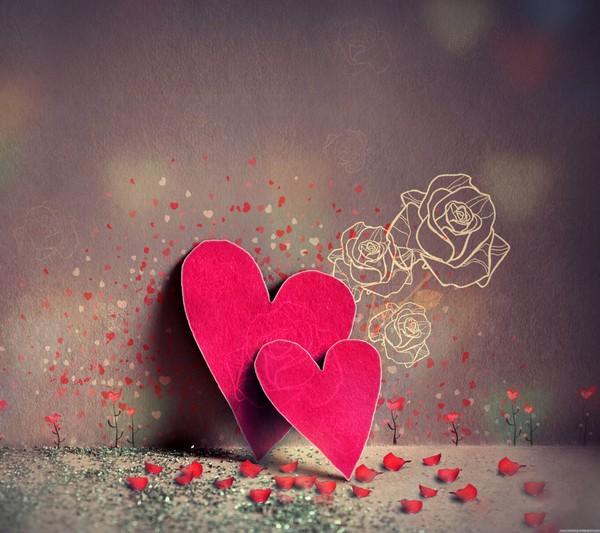 Les-coeurs-roses