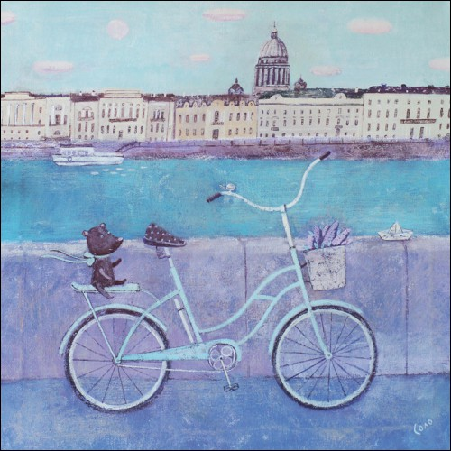 The liliac may - toile de Svetlana Solovieva