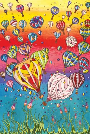 Air ballons - illustration de Daria Rusanova