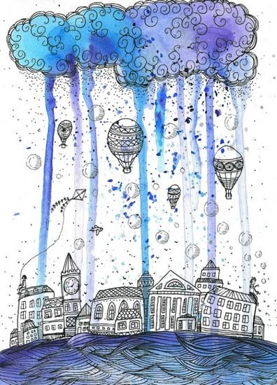 Pluie - illustration de Tanya Samoshkina