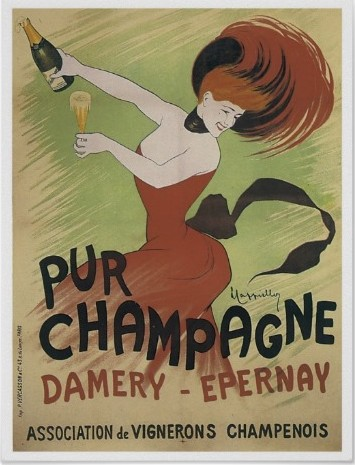 Pur champagne Damery-Epernay - affiche vintage
