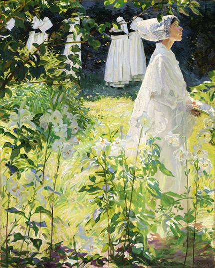 A Covent Garden, Britanny - toile de William John Leech