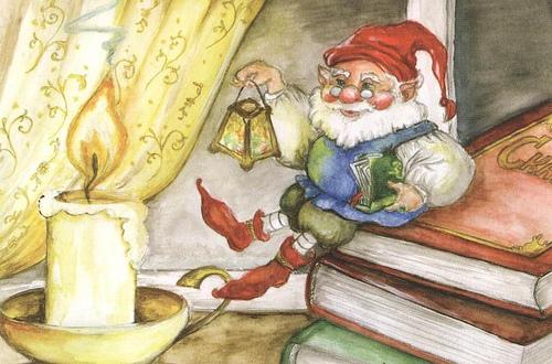 Le lutin de Noël - illustration de Nina Panasenko