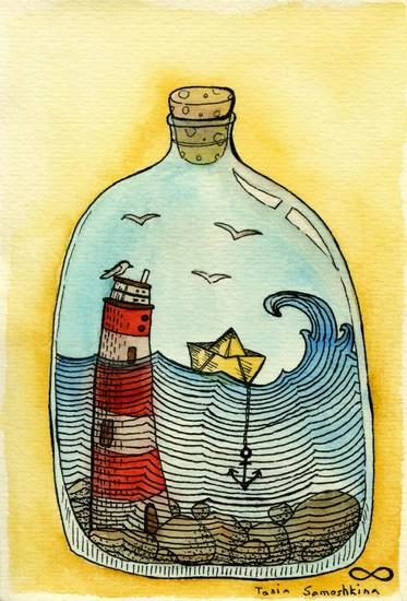 Home sea - illustrationde Tania Samoshkina