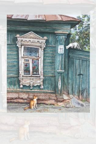 Meeting - aquarelle dAlena Dergileva