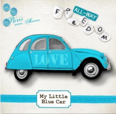 My little blue car