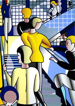 Roy Lichtenstein - Bauhaus Stairway