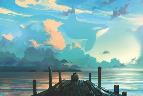 Sky for dreamers - oeuvre dArtern Rhads Cheboha