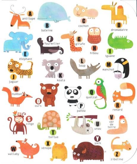 Abécédaire des animaux - illustration de Nicolas Goudy