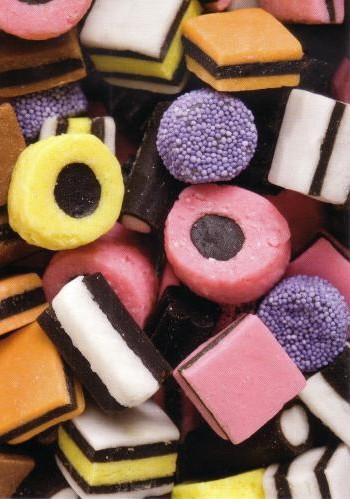 Assortiment de bonbons à la liquorice
