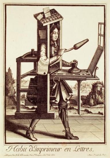 Habit dimprimeur de livre (1695)