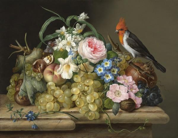 Nature morte - toile de Franz Xaver Petter
