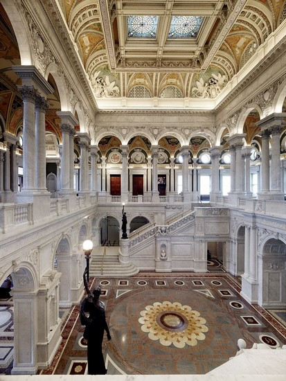 Great Hall, Thomas Jefferson Building, Library of Congress, Washington