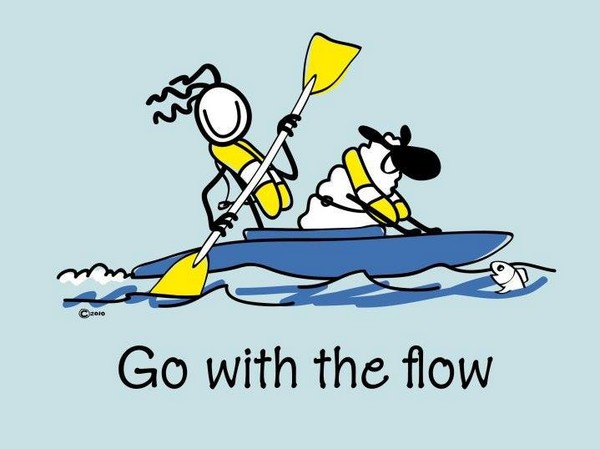 Go with the flow - illustration de Conn OMara