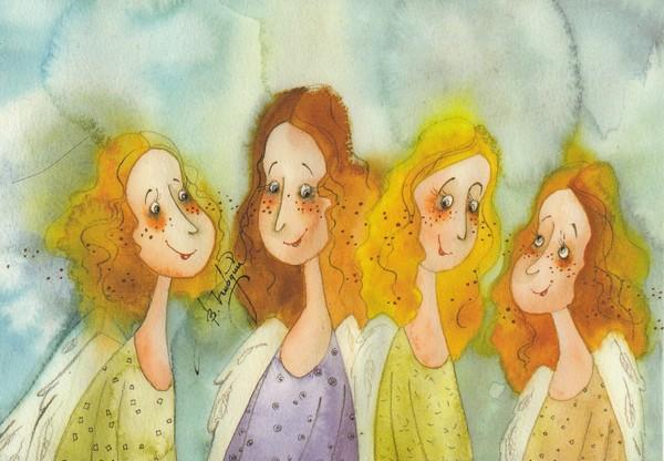 Funny Angels - illustrations de Victoria Kirdy