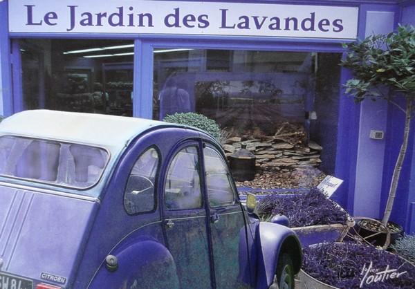 La 2 CV du Jardin des Lavandes - photo de Julien Lautier
