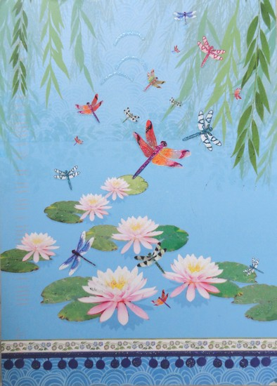 Nénuphars et libellules - illustration de Linda Edwards