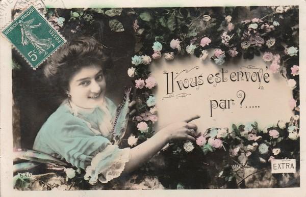 Il vous est envoyé par - carte postée en 1910