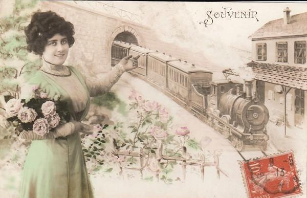 Souvenir - carte postée en 1913