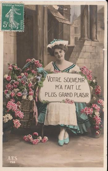 Votre souvenir - carte postée en 1908