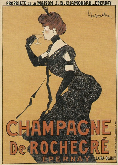 Champagne de Rochegré – illustration de Leonetto Cappiello (1902)